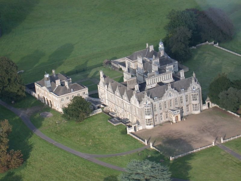 Lilford Hall Aerial View